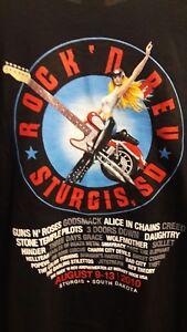 New Rock N Rev Sturgis South Dakota 2010 T Shirt Size XL
