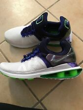 NWOB Nike Shox Gravity Womens Running Shoes White/Violet/Green Sz 9.5 MSRP $150