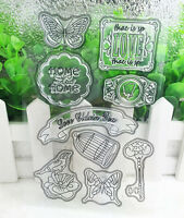 DIY Silicone Rubber Clear Stamp Seal Scrapbooking Diary Christmas Card K#37