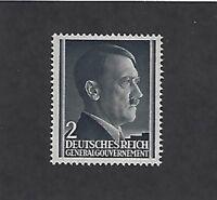 MNH Adolph Hitler stamp 2GR / 1941 issue / Third Reich / Occupied Poland / MNH