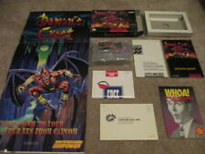 Demon's Crest (Super Nintendo SNES) Complete CIB w/ Poster - Collector!
