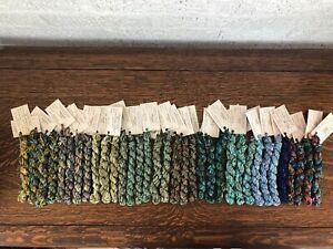 The Thread Gatherer - Silken Chenille- Hand Dyed SilkThreads. 34 skeins. (3)