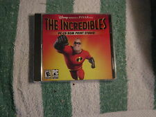 The Incredibles (PC-CD) Print Studio, from Disney, Rated E for Everyone  NEW