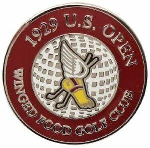 1929 US OPEN (Winged Food) FLAT Logo Golf Ball Marker (Won by Bobby Jones) ERROR