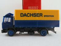 """Herpa 866002 MAN M 90 Pritsche/Plane (1986) """"Spedition Dachser"""" 1:87/H0 NEU/OVP"""