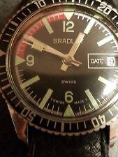 1960's 32 MM Women's diver watch, Bradley, Runs!!