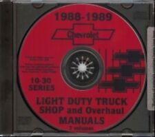 CHEVROLET 1988 & 1989 Pick Up Truck, Blazer, Suburban & Van Shop Manual CD