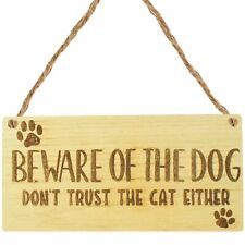 Beware Of The Dog Sign For Home Funny Door Or Gate Cat Sign Gift Warning Plaque