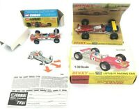 Two boxed  Lotus F1 Racing Cars: Corgi 158 Lotus Climax + Leaflet & Dinky 225