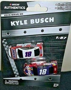 NASCAR AUTHENTICS 2020 1/87 #18 KYLE BUSCH SNICKERS LIQUID COLOR SKITTLES WAVE 5