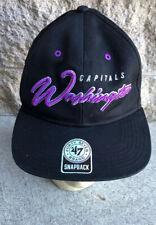 WASHINGTON CAPITALS HAT CAP NEW ERA NHL HOCKEY ADJUSTABLE 47 SnapBack Flat Bill
