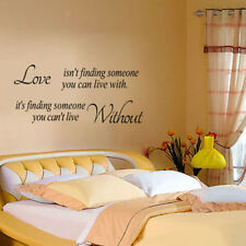 Love isn't finding someone Removable Wall Stickers Home Decal Quote Vinyl Decor