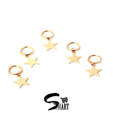 GOLD STAR Hair Rings For Tresses Braids Plaits Dreads Accessories 5 10 20 /Set