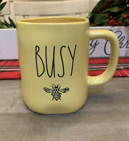 Rae Dunn By Magenta - LL BUSY BEE 🐝 - Yellow Ceramic Coffee Mug