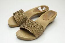 Sanita 9 9.5 Brown Slide Sandals Wood EU 40