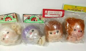 Lot of 4 Vintage Doll Yarn Head Hands Darice Craft Supply Frank's Fibre