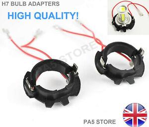 2x H7 Bulb Holder Adapters Headlight - Xenon HID LED Fits V W Golf MK5 JETTA UK