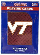 Virginia Tech Hokies Official NCAA 52 Playing Card Deck +2 Jokers Factory Sealed