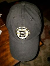 Boston Bruins Black Adjustable Back Cap, '47 Brand. Great Condition.