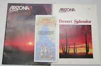 Vintage Lot of 3 Arizona Highways Magazine and 1988 Mobile Bay Area Guide Map
