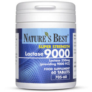 Lactase 9000 FCC Enzyme Units - Maximum strength enzyme - 60 Tablets - UK Made
