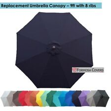 9ft with 8 Ribs Patio Garden Yard Market Replacement Umbrella Canopy Cover, Navy