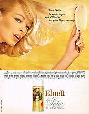 PUBLICITE ADVERTISING 084  1965  ELNETT laque satin de L'OREAL