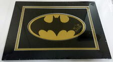 BATMAN GOLD FOIL LOGO HAND SIGNED by BOB KANE Professionally Matted