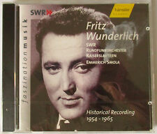 FRITZ WUNDERLICH - HISTORICAL RECORDING 1954-1965 CD - NEW