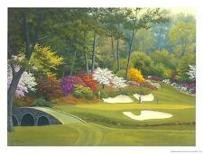 12th Hole at Augusta Charles White Landscape Golf Garden Print Poster 25x19