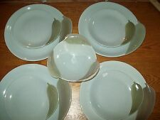 9 pc VTG Signed Willard George Mid Century Modern Leaf Dinner Salad Plates Bowl