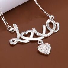 Heart Cubic Zirconia Gift Box J13 Sterling Silver Infinity Love Pendant Necklace