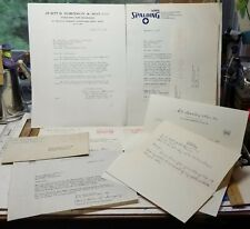 SPAULDING SPORTS CHICOPEE MA BUSINESS 1940s 1950s 1980s LETTERS Correspondence