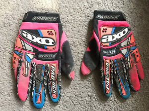 Vintage Motocross  gloves. Axo padlock line