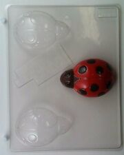 LARGE LADYBUG CLEAR PLASTIC CHOCOLATE CANDY MOLD AO130