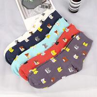 Animal Cartoon Cotton Socks Fashion Women Lovely Cute Cat Socks 5 Colors 1 Pair