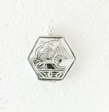 Large EGYPTIAN  SPHINX  &  PYRAMIDS -  sterling silver charm pendant  OVER 2.5g