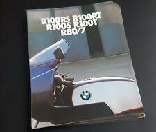 R80/7 Publicité moto BMW R100RS R100RT prospectus brochure dépliant catalogue BM