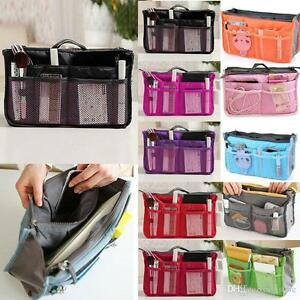 Women Lady Travel Bag Purse Handbag Make Up Cosmetic Bag Zipper Liner Organiser
