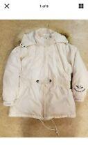 Triple Fat Goose Parka Womens Cream Puffy Jacket Waist Adjustment Size 1X