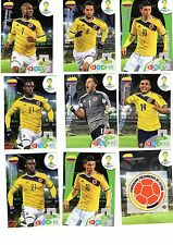 LOT 9 Panini Adrenalyn XL Brasil World Cup 2014 COLOMBIA TEAM