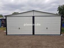 Blechgarage 5x6 m in RAL9010 Halle Garage KFZ Lager NEU mit Aufbau*