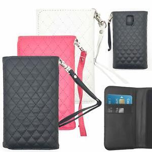 Hülle Klapptasche Handy Tasche Schutz Case Spiegel Flip Cover Wallet Tragekette