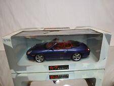UT MODELS 27907 PORSCHE 996 CABRIOLET - BLUE METALLIC 1:18 - EXCELLENT IN BOX