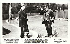 Tradesmen In Old Ealing Postcard - Crossing-Sweeper with Milk Roundsman  V2260