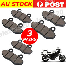 3 PAIRS Front Rear Brake Pads FOR HYOSUNG GT 650 S 2005 GT650 GV650 GT250R AU