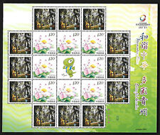 China 2011-22 Sport of Ethnic Minorities Special Full S/S Flower 少數民族運動會(二)花
