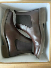 A.P.C. Felicie brown leather Chelsea ankle boots size EU 40