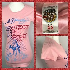 "Ed Hardy Women's t-shirt ""Protect The Forest"" Size Xs"