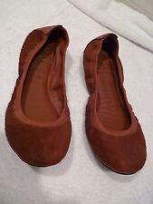 TORY BURCH Eddie Calf Hair w/ Binding Ballet Flats rust color $198 SZ 6-new/rtn